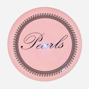 'Pearls' Round Trinket Jewelry Box in Light Pink